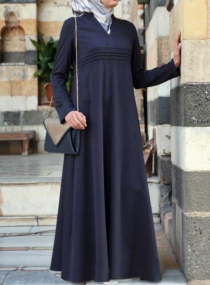A Seriously Classy and feminine Abaya. Love the full skirt! SHUKR | Ambarin Abaya