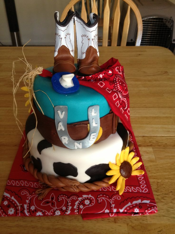 Western Themed Baby Shower Cake