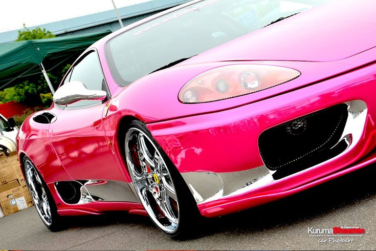 ferrari 360 in pink pearl chrome paint cars my addiction pinterest pearls ferrari and pink. Black Bedroom Furniture Sets. Home Design Ideas