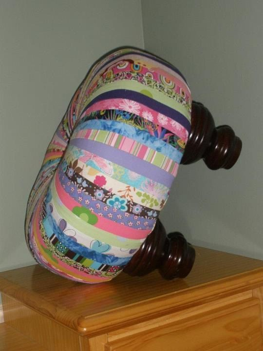This Footed Tuffet Stool would look adorable in a little girls room or even in your powder room.