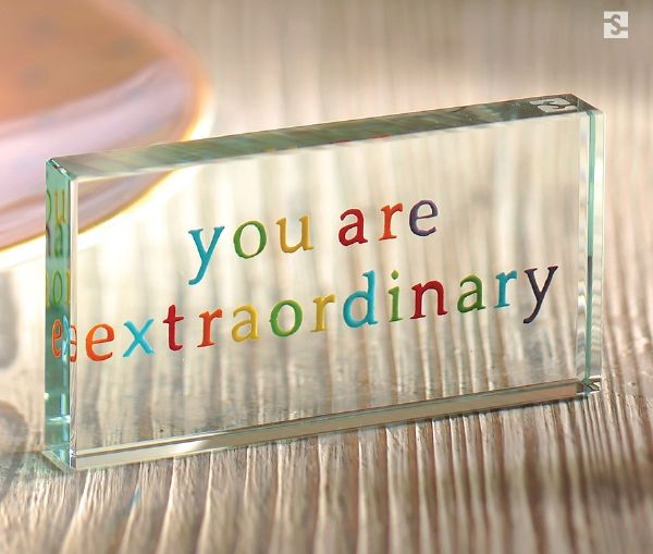 """You are extraordinary"" Landscape Token by Spaceform."