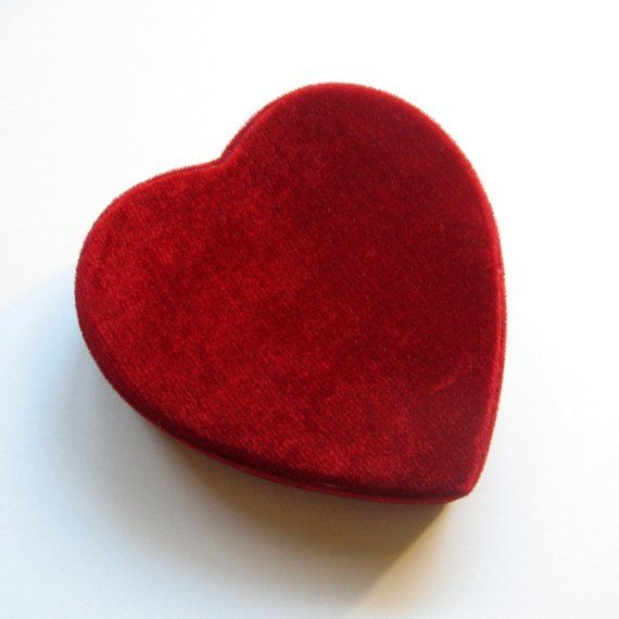 Vintage Box Valentine S Day Candy Box Heart Shaped Box Velvet Box Candy Box Red Velvet Gift Box Keepsak Valentine Box Handmade Candy Heart Shape Box