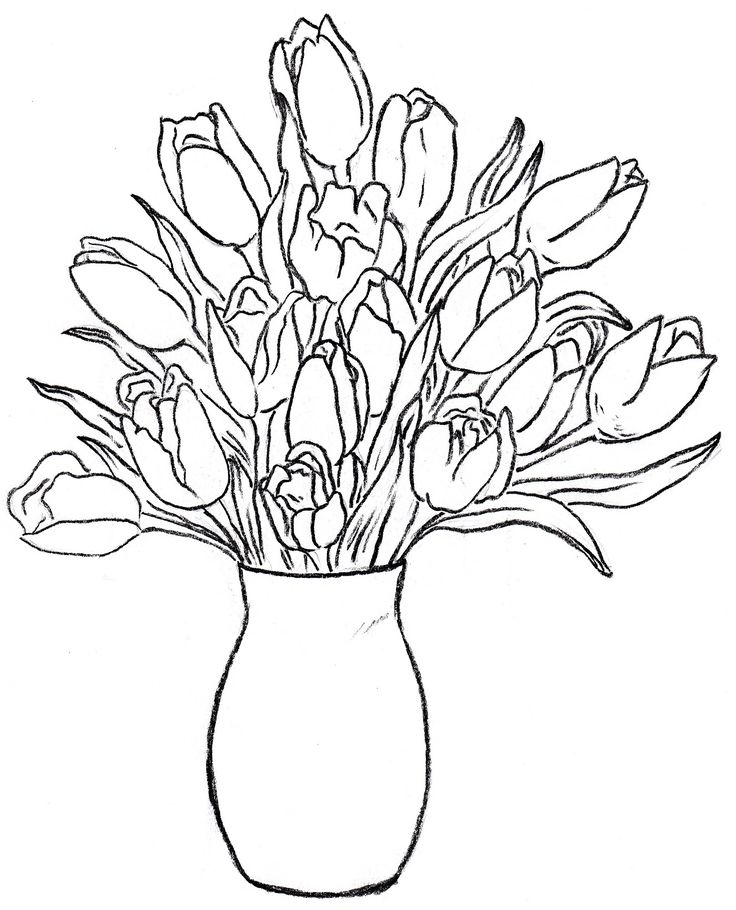 flower vase design coloring pages - photo#25