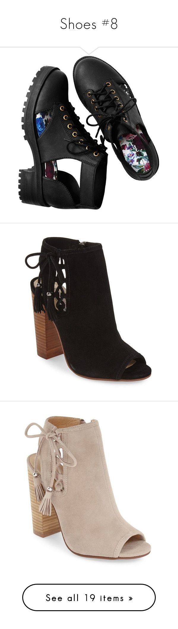 """Shoes #8"" by ameyzinha ❤ liked on Polyvore featuring shoes, boots, ankle booties, black, clothes - shoes, black booties, summer boots, black ankle booties, summer booties and h&m boots"