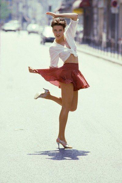 Модные французские девушки из 80-х (28 фото)