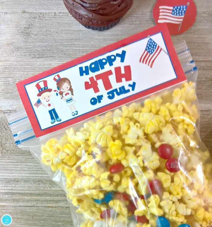 4th of July Printables for your Party | Bag toppers and ...