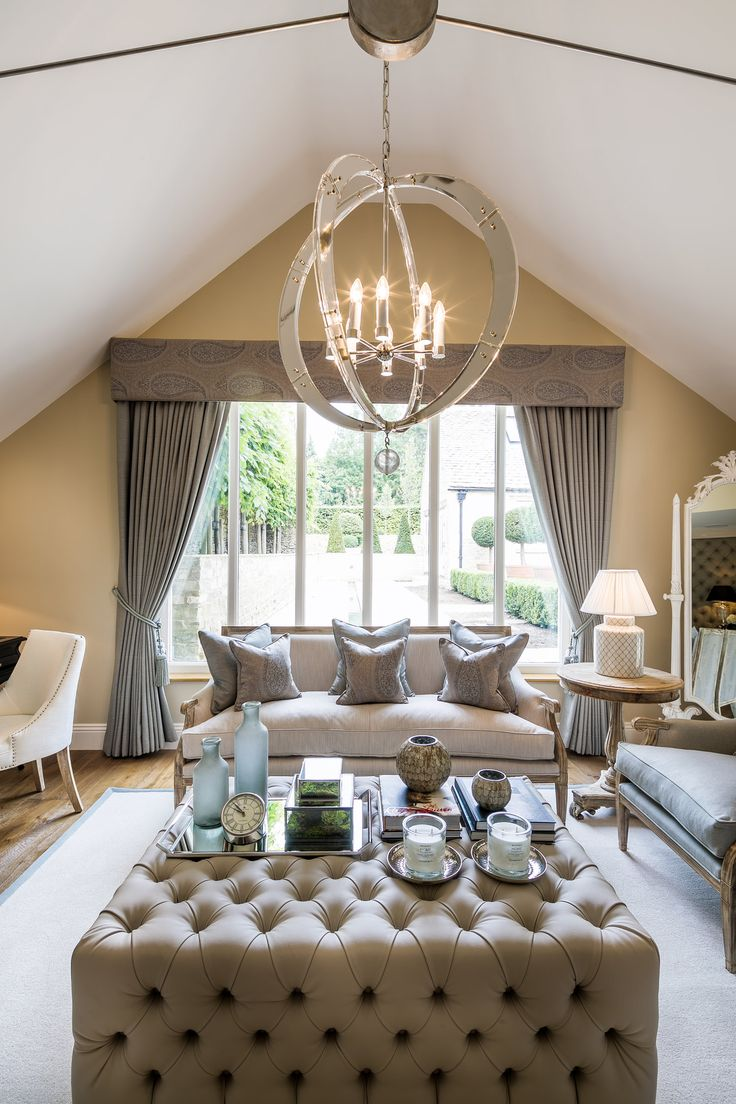 This Bespoke Ottoman In Sumptuous Kirkby Design Fabric Adds Glamour To The Alluring Master Bedroom Our Cotswolds Project Crowned By Magnificent