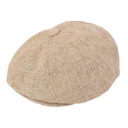 80 kr. (Findes også i sort) ADULT FLAT CAP WITH PREFORMED PEAK 8 PANEL DESIGN (57cm, Beige) Hawkins http://www.amazon.co.uk/dp/B00DO3FDWU/ref=cm_sw_r_pi_dp_Skf3wb0HA0E4W
