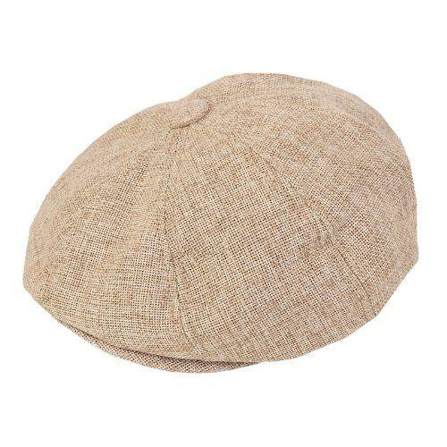 80 kr. (Findes også i sort) ADULT FLAT CAP WITH PREFORMED PEAK 8 PANEL DESIGN (57cm, Beige) Hawkins http://www.amazon.co.uk/dp/B00DO3FDWU/ref=cm_sw_r_pi_dp_Skf3wb0HA0E4W