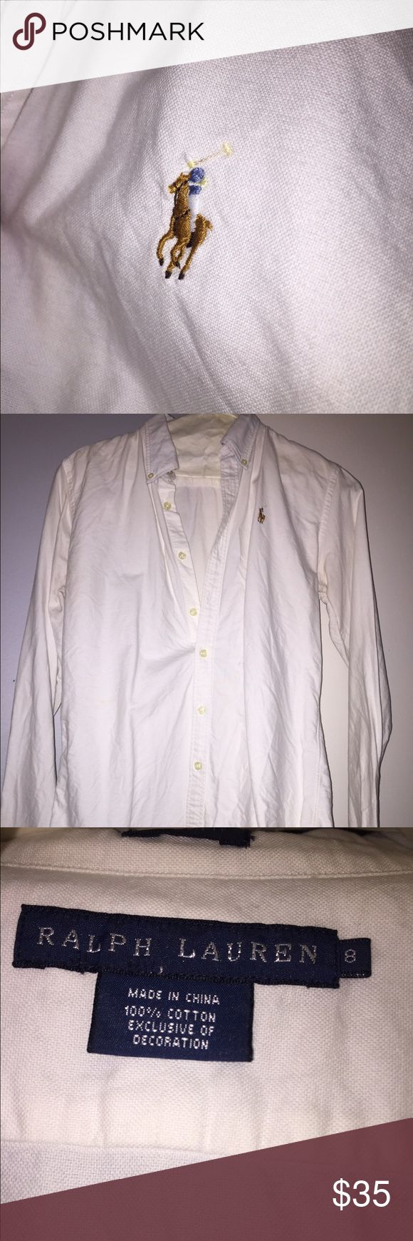 Ralph Lauren long sleeve polo White Ralph Lauren button down oxford shirt. Lauren Ralph Lauren Tops