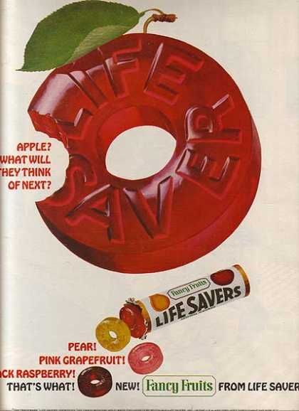 LifeSaver's Fancy Fruit (1965)...the pink grapefruit and the pear were my favorites!