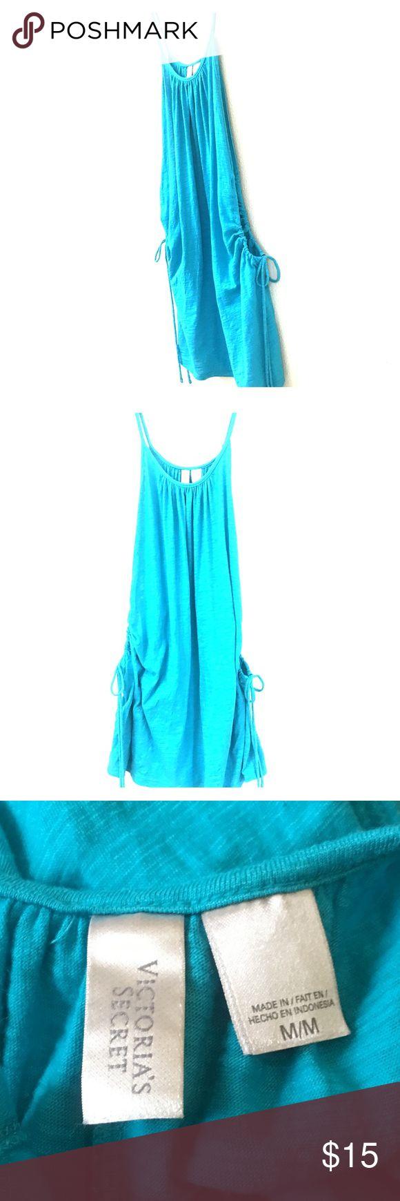 Victoria's Secret Sun Dress Swim Cover Good condition. Hem line is upper thigh. Side's of dress drape down. Tie on each side. Victoria's Secret Dresses Mini