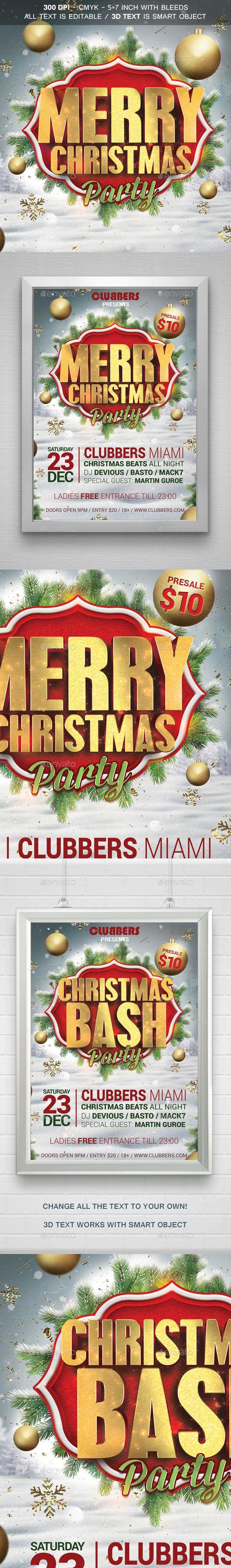 Merry Christmas Flyer Template PSD #design #xmas Download: http://graphicriver.net/item/merry-christmas-flyer-v2/9624029?ref=ksioks