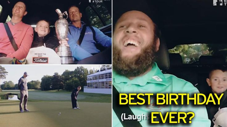 Beef Johnston, Justin Rose, Henrik Stenson and Martin Kaymer surprise nine-year-old golf fan on his birthday - Mirror Online
