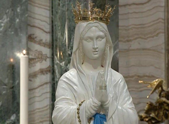Madonna Di Lourdes Pellegrina A Roma Sant Andrea Delle Fratte Blessed Mother Statue Sculpture