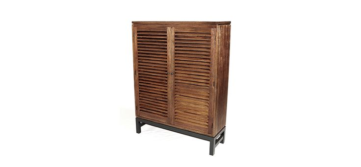 Sandblasted Shutter Pantry from Allwood Products, available at Oaksmith Interiors