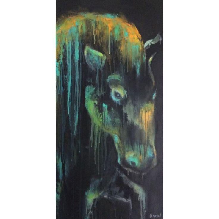 cheval  gravel artiste peintre animalier québecois