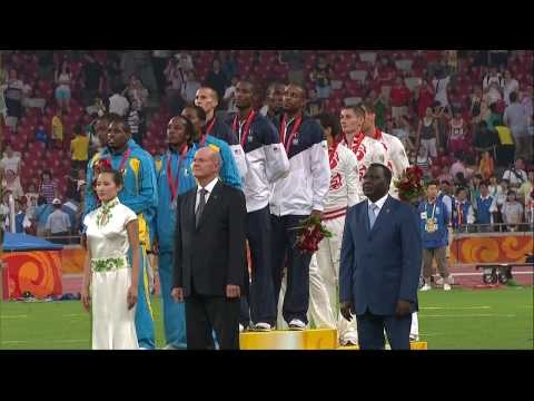 Beijing 2008 Olympics Medal Ceremony: Men's 4x400m relay
