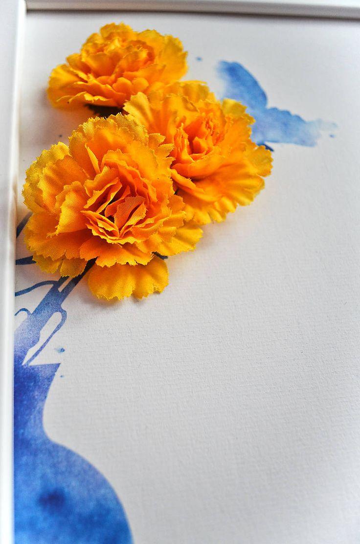Obrazy - Kvetiny vo váze/3D obraz/kvetinové umenie - 7167243_