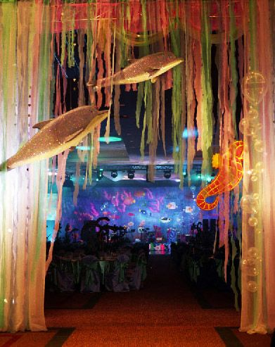 under the sea  decoration replicate with glow sticks