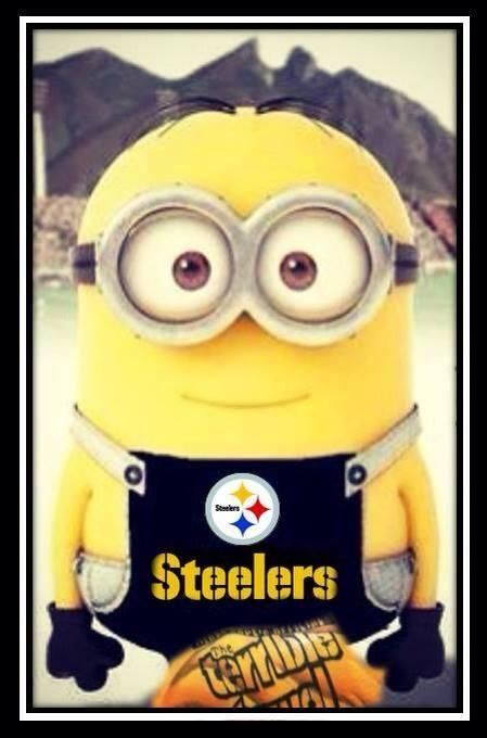 Minion's love the Steelers!! OMG this is SO cute!!! :-)
