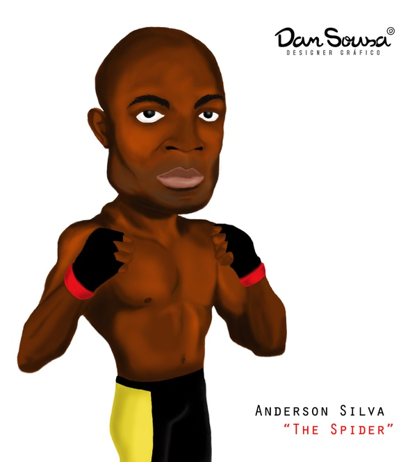 Anderson Silva artwork by Dan Sousa