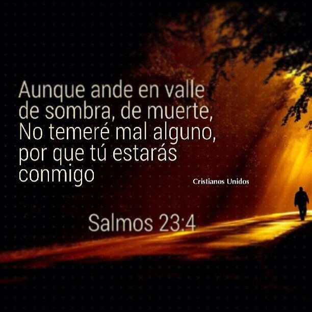 Salmos 23:4  Even though I walk through the valley of the shadow of death, I will not fear, for You are with me.   #salmos #biblia