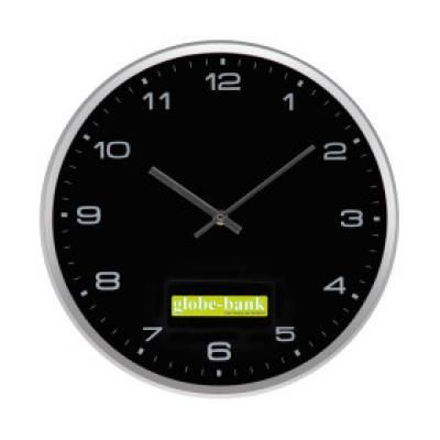 Image of Promotional Modern Wall Clock In Black. Printed Wall Clock.