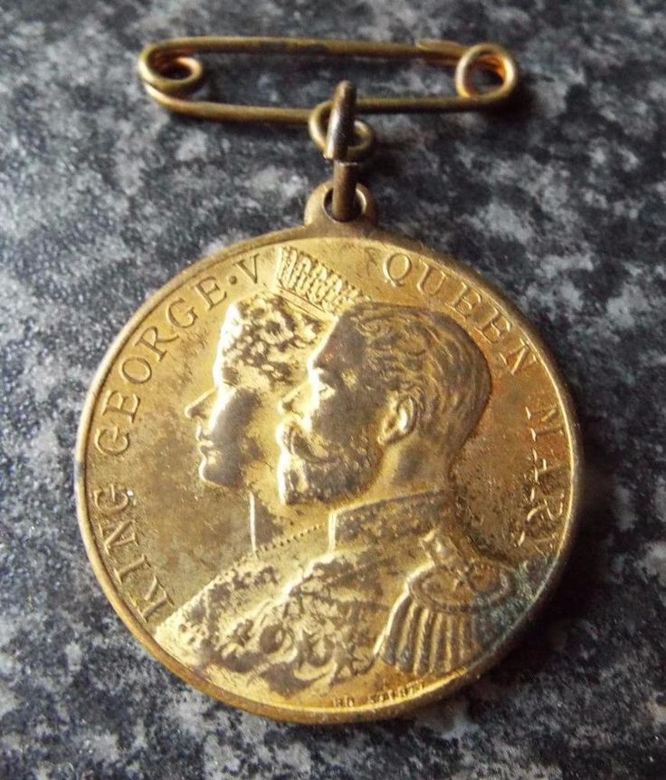 Antique 1911 King George V Amp Queen Mary Coronation Medal