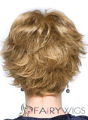 Wig Online Short Wavy Blonde 8 Inch Human Hair Wigs