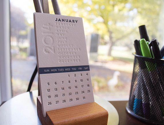 2014 Letterpress Desk Calendar