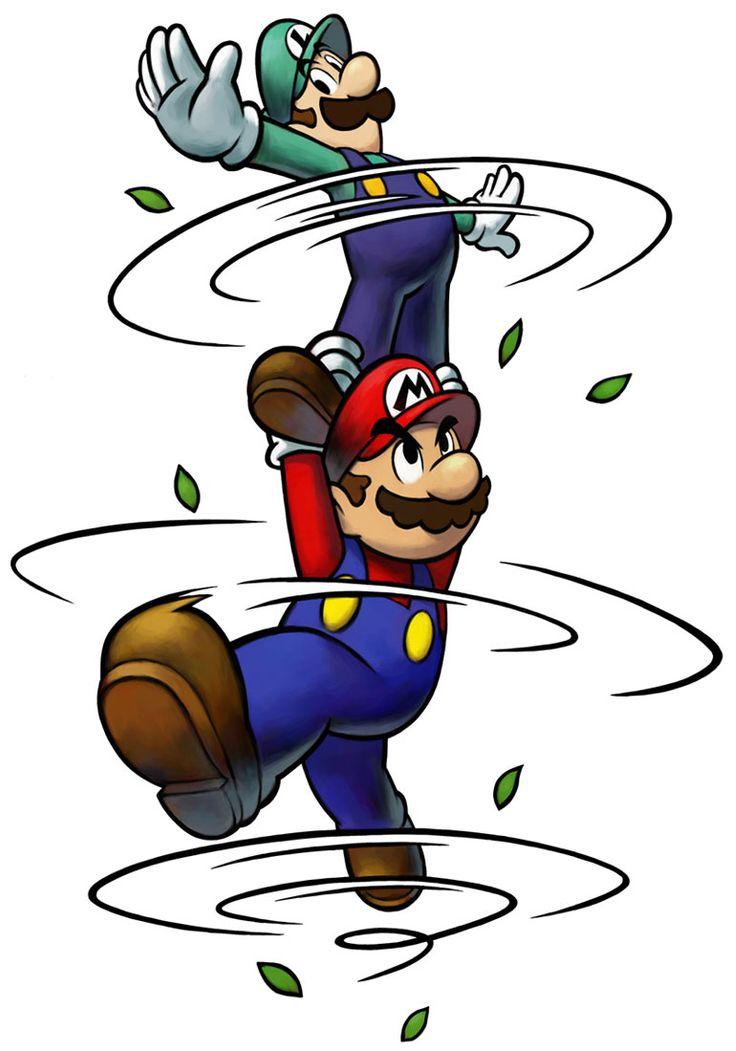 Mario & Luigi Spin Jump | Mario & Luigi: Partners in Time