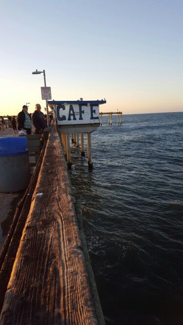 This is a great little cafe for inexpensive meals right out on the pier.
