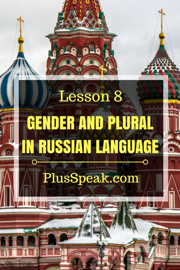 Learn Russian grammar, Gender and Plural. Russian language, learning, alphabet for beginner and more.