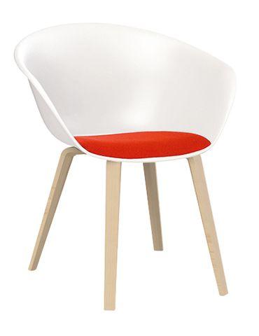 Duna 02 Armchair 4 wooden legs