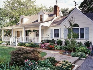 Cape Cod with Cottage Charm - porch and side extension