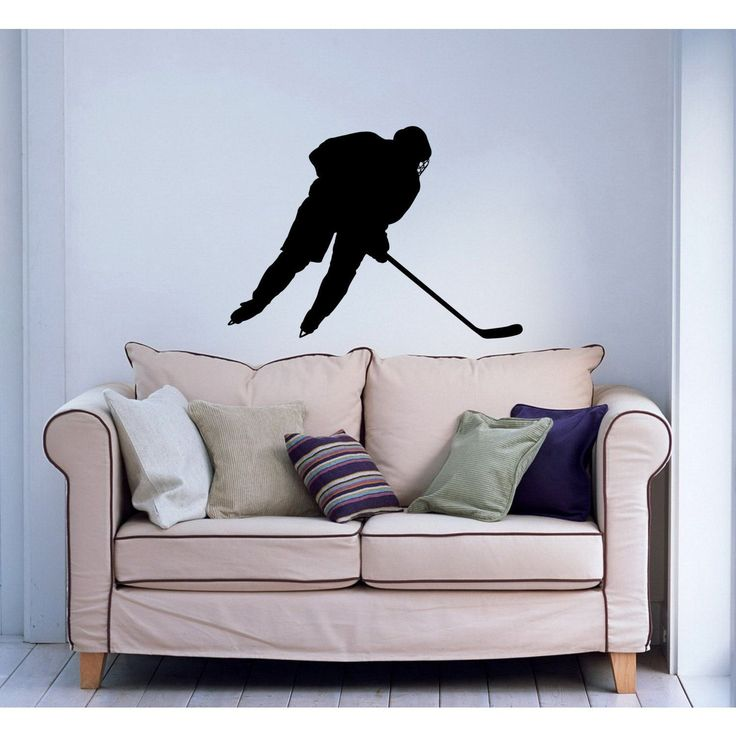 Hockey Player Sticker Vinyl Wall Art