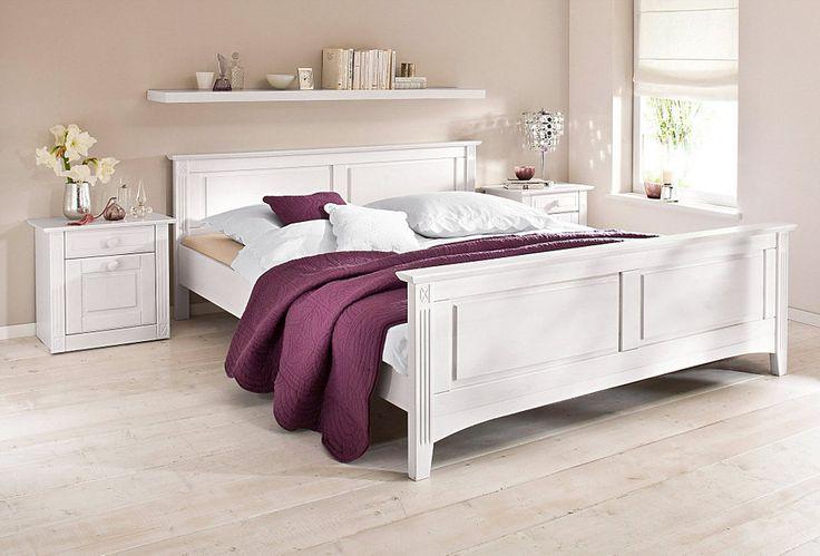 Holzbett weiß