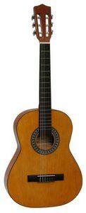 Spaanse gitaar 3/4 Naturel (7 - 12 jaar) met hoes, snaarwinder en stemfluit