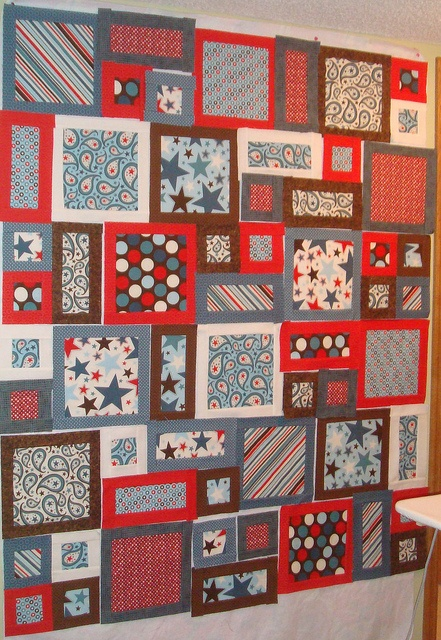 All Stars Flannel Sample by kristinawilberg, via Flickr.  Use similar layout for Don's t shirt quilt.