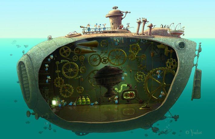 Old Submarine by Yustas, via Behance