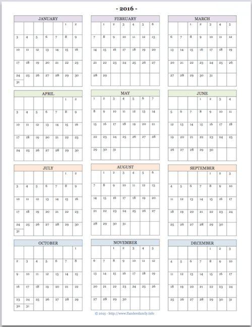 Best 25+ At a glance calendar ideas on Pinterest Week at a - yearly calendar