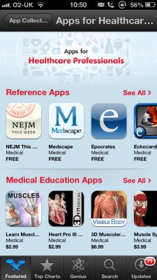 Apple launches dedicated 'Apps for Healthcare Professionals' collection. This update highlights the direction the medical industry is moving towards, and it's slow but sure acceptance of mobile technology as an intrinsic part of healthcare.    http://www.imedicalapps.com/2013/02/apple-apps-healthcare-professionals-collection/#