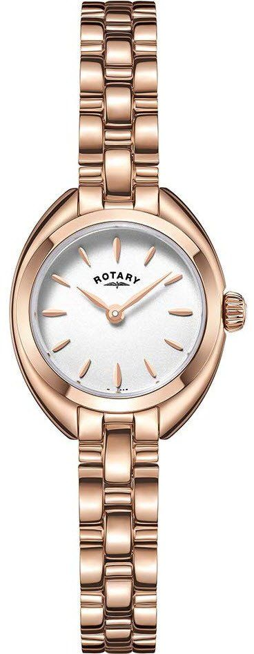 Rotary Watch Ladies Gold Plated Bracelet #add-content #bezel-fixed #bracelet-strap-gold #brand-rotary #case-depth-6-8mm #case-material-rose-gold #case-width-23-5mm #classic #delivery-timescale-1-2-weeks #dial-colour-white #gender-ladies #movement-quartz-b