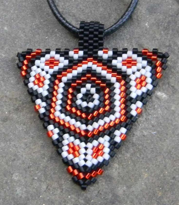 Triangle peyote pendant
