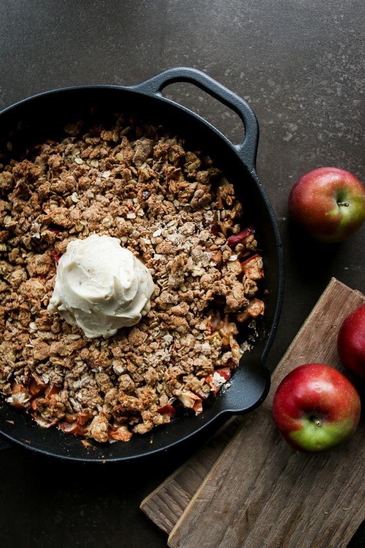 The Best Sugar-Free Apple Crisp - Unsweetened Caroline
