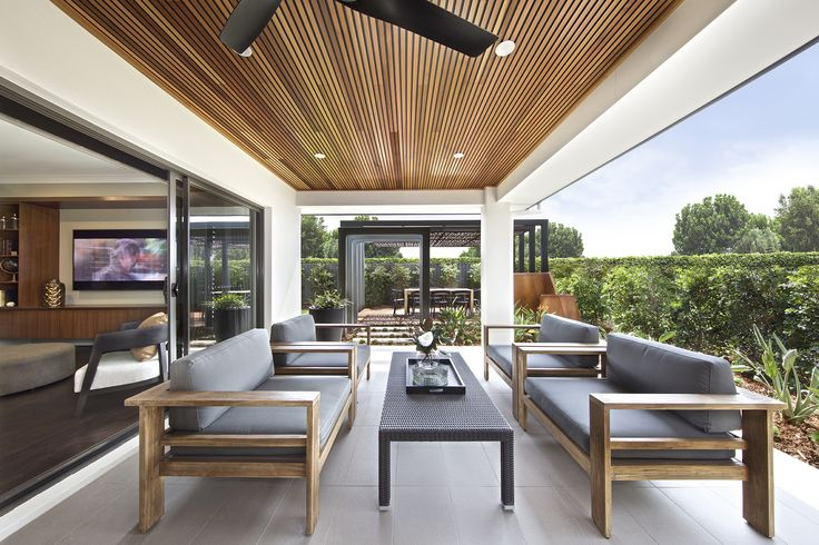 Clarendon Homes. Paddington City 30. Grand Alfresco Area with a beautiful timber ceiling.