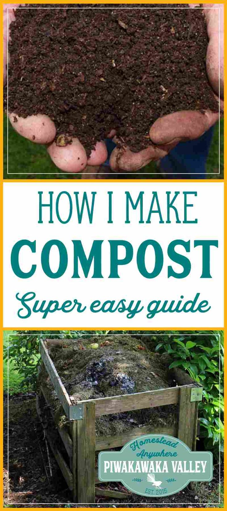 Here is how I make amazing compost for my garden. Building a compost pile is a necessary thing for your garden. Compost is very beneficial and it is a lot easier to get right than you might think! Find out how to do it today, or pin it for later!