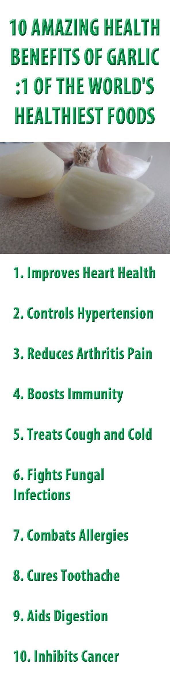 10 health benefits of GARLIC.  Ever wondered what garlic really does for your body?