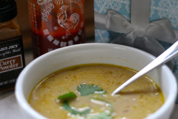Thai Chicken Soup: easy, healthy, #paleo chicken soup recipe, plus tips on making homemade stock. Timely if you're cooking a turkey for thanksgiving.
